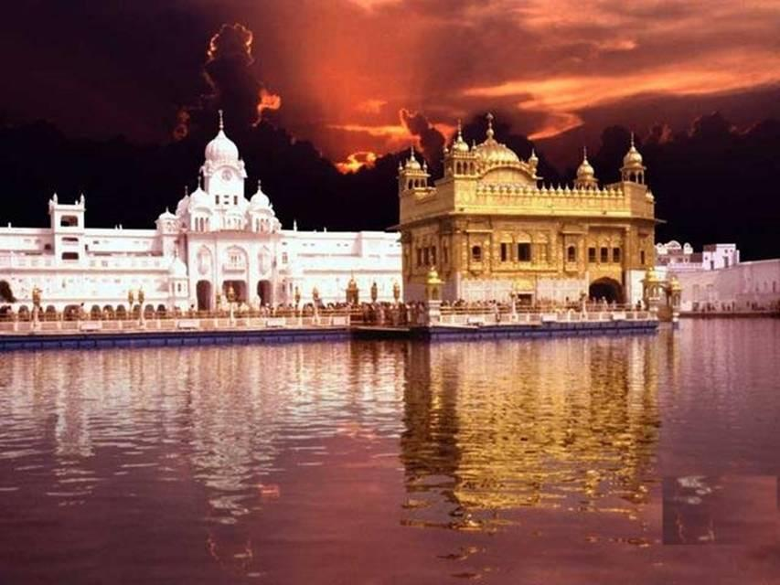 Red Sky over Golden Temple