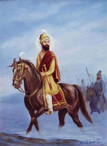 Guru Gobind Singh riding out