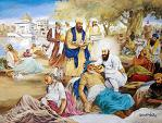 Guru Arjan Dev Ji serves the lepers at Taran Taran