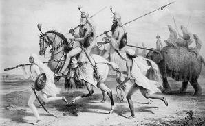 Sikh Chieftains  after an original drawing by Prince A  Saltykov Lahore   1842