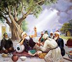 Baba Farid with Holy Men